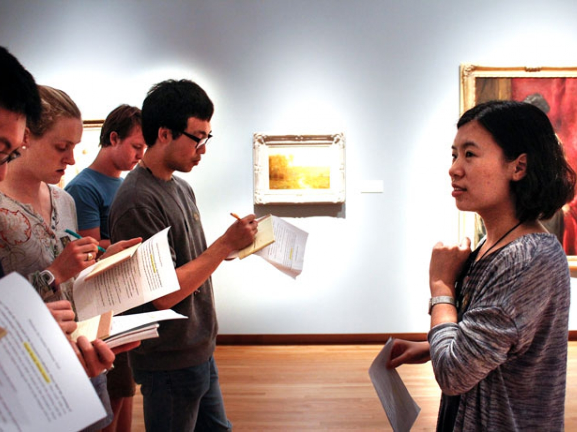 Students in Nasher Museum